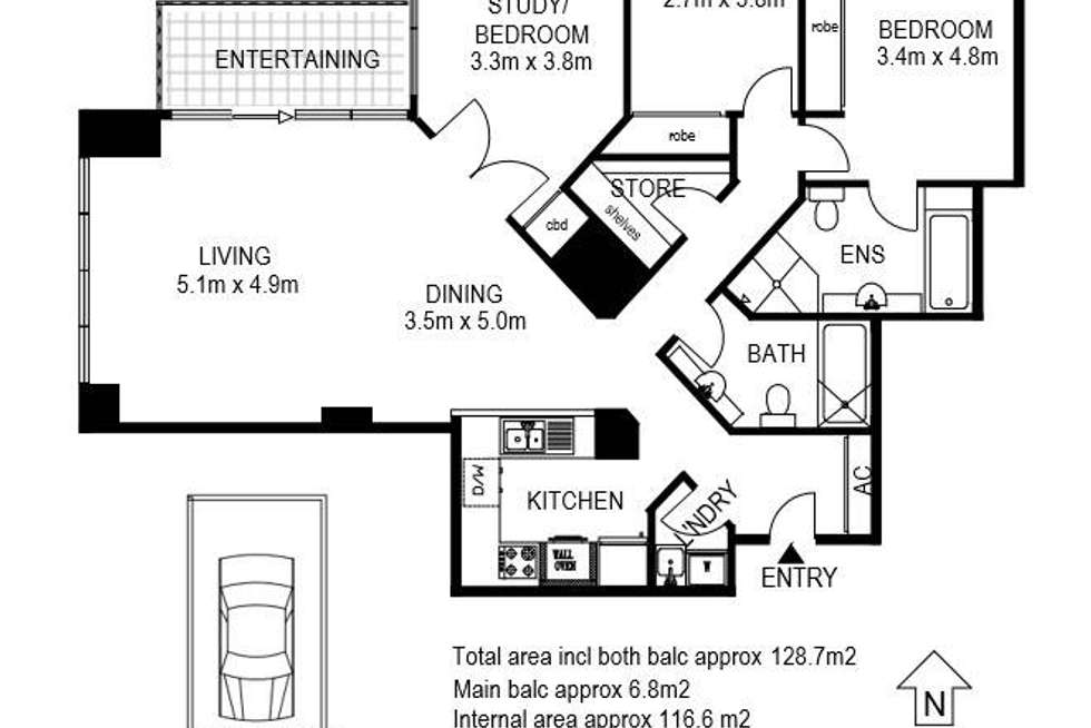 Floorplan of Homely apartment listing, 183 Kent Street, Sydney NSW 2000