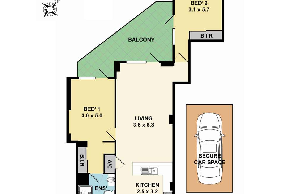 Floorplan of Homely apartment listing, 12/2 Pound Road, Hornsby NSW 2077