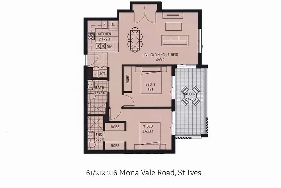 Floorplan of Homely apartment listing, 61/212-216 Mona Vale Road, St Ives NSW 2075