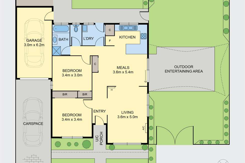 Floorplan of Homely unit listing, 2/20 Frost Drive, Delahey VIC 3037