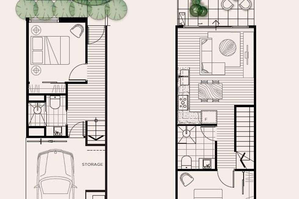 Floorplan of Homely townhouse listing, 9/17 Bent Street, Bentleigh VIC 3204
