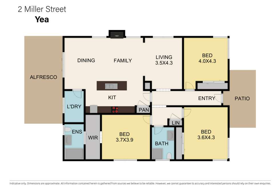 Floorplan of Homely house listing, 2 Miller Street, Yea VIC 3717