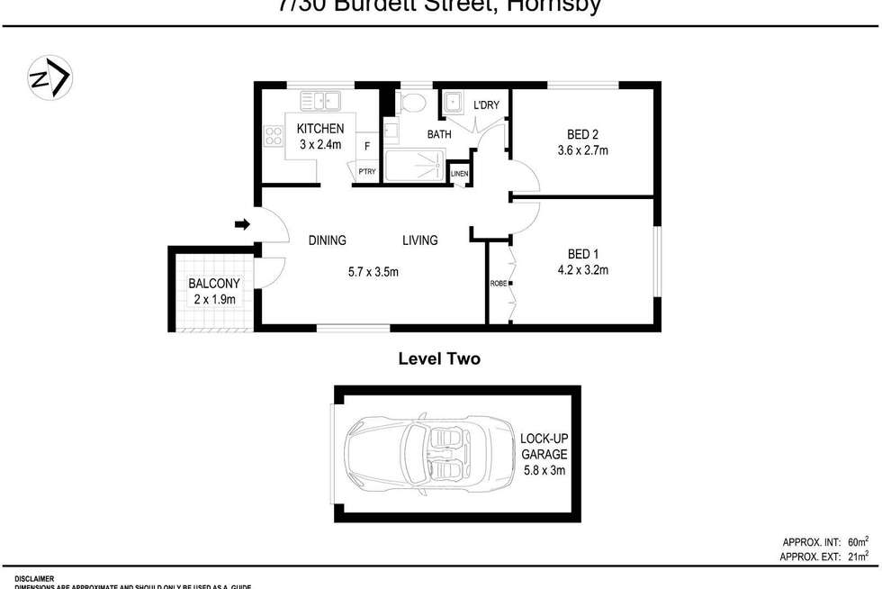 Floorplan of Homely apartment listing, 7/30 Burdett Street, Hornsby NSW 2077