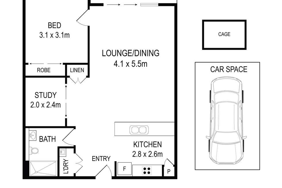 Floorplan of Homely apartment listing, C1009/460 Forest Road, Hurstville NSW 2220