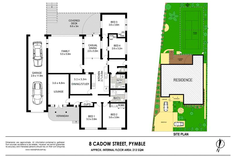 Floorplan of Homely house listing, 8 Cadow Street, Pymble NSW 2073