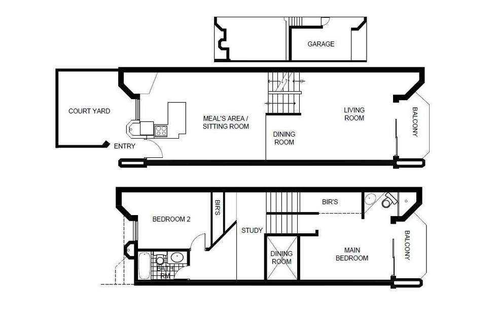 Floorplan of Homely townhouse listing, 29 Darling Street, Barton ACT 2600