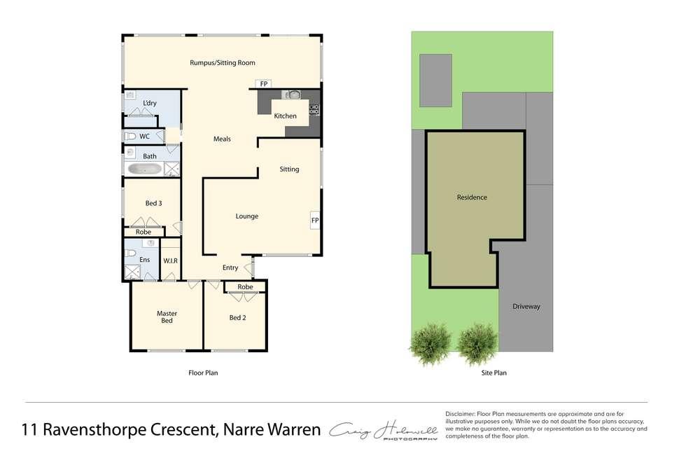 Floorplan of Homely house listing, 11 Ravensthorpe Crescent, Narre Warren VIC 3805