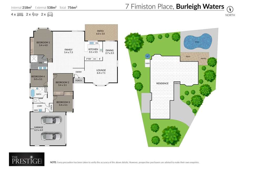 Floorplan of Homely house listing, 7 Fimiston Place, Burleigh Waters QLD 4220