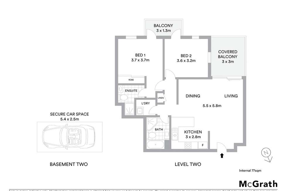 Floorplan of Homely apartment listing, 20/20 College Crescent, Hornsby NSW 2077