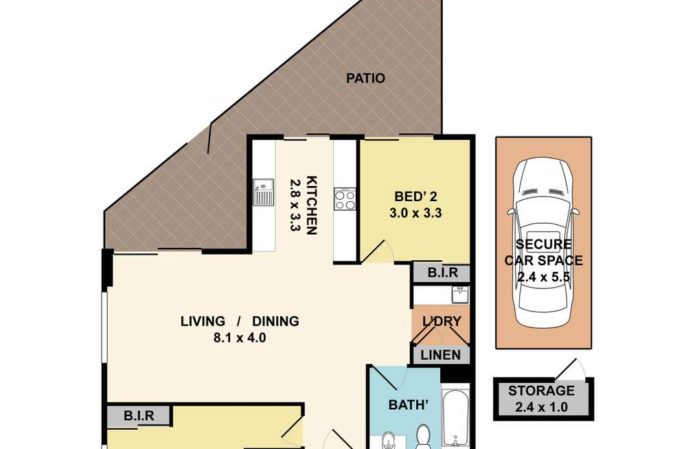 Floorplan of Homely apartment listing, 2/325-331 Peats Ferry Road, Asquith NSW 2077