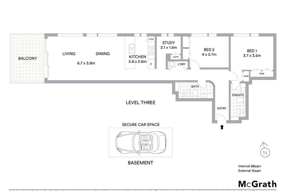 Floorplan of Homely apartment listing, 303/13 Lynn Avenue, Point Frederick NSW 2250