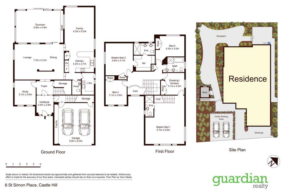 Floorplan of Homely house listing, 6 St Simon Place, Castle Hill NSW 2154