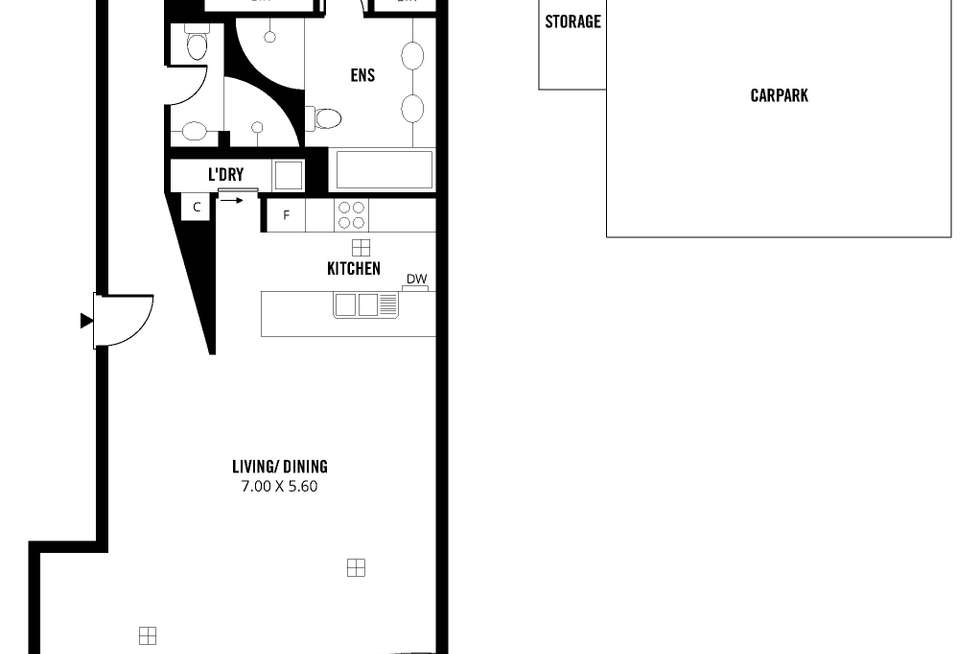 Floorplan of Homely apartment listing, 6B/2-6 Hurtle Square, Adelaide SA 5000