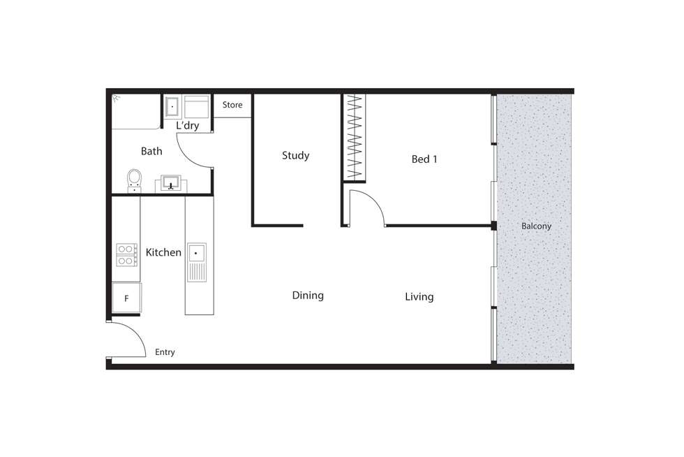 Floorplan of Homely apartment listing, 508/9 Watkin Street, Bruce ACT 2617