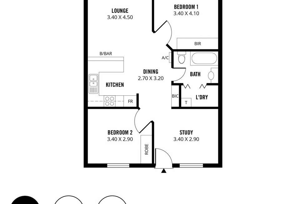 Floorplan of Homely apartment listing, 6/81 Carrington Street, Adelaide SA 5000