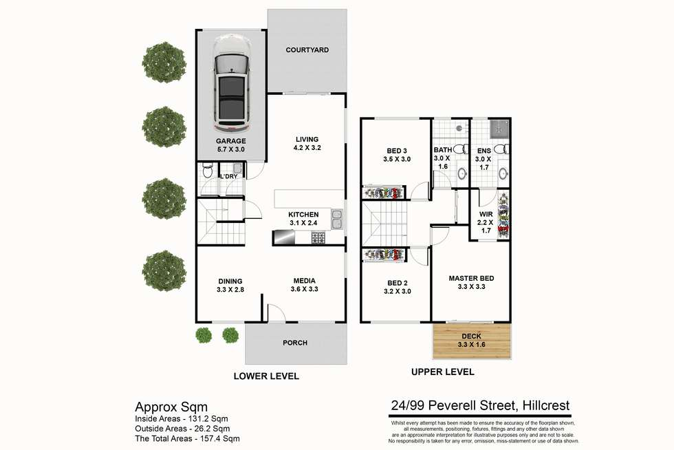 Floorplan of Homely townhouse listing, 24/99-113 Peverell Street, Hillcrest QLD 4118