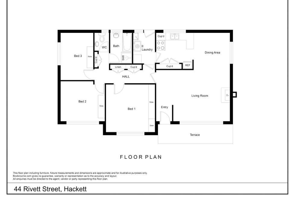 Floorplan of Homely house listing, 44 Rivett Street, Hackett ACT 2602