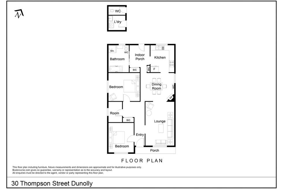 Floorplan of Homely house listing, 30 Thompson Street, Dunolly VIC 3472