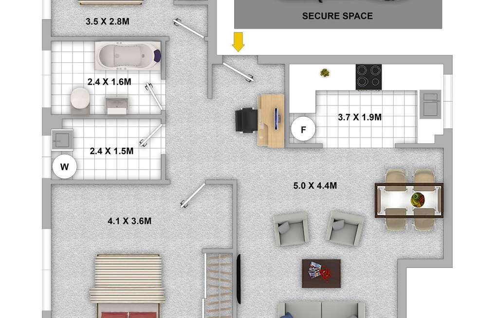 Floorplan of Homely apartment listing, 3/11-13 Crown Street, Granville NSW 2142