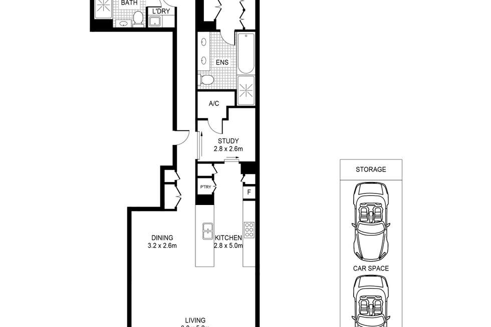 Floorplan of Homely apartment listing, 126/3 Darling Island Road, Pyrmont NSW 2009