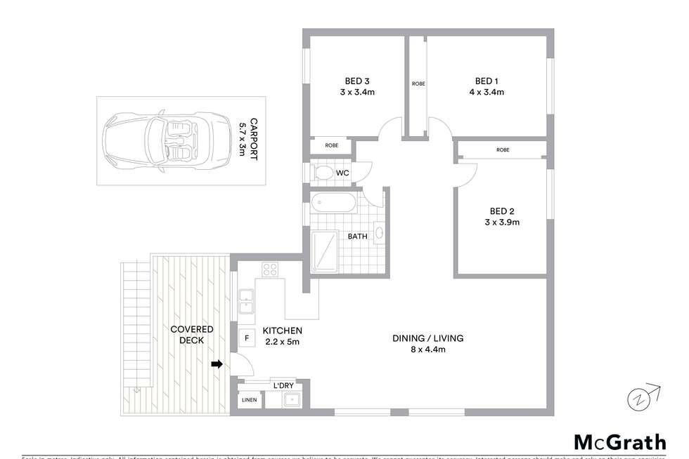 Floorplan of Homely unit listing, 9/61 Boronia Street, Sawtell NSW 2452
