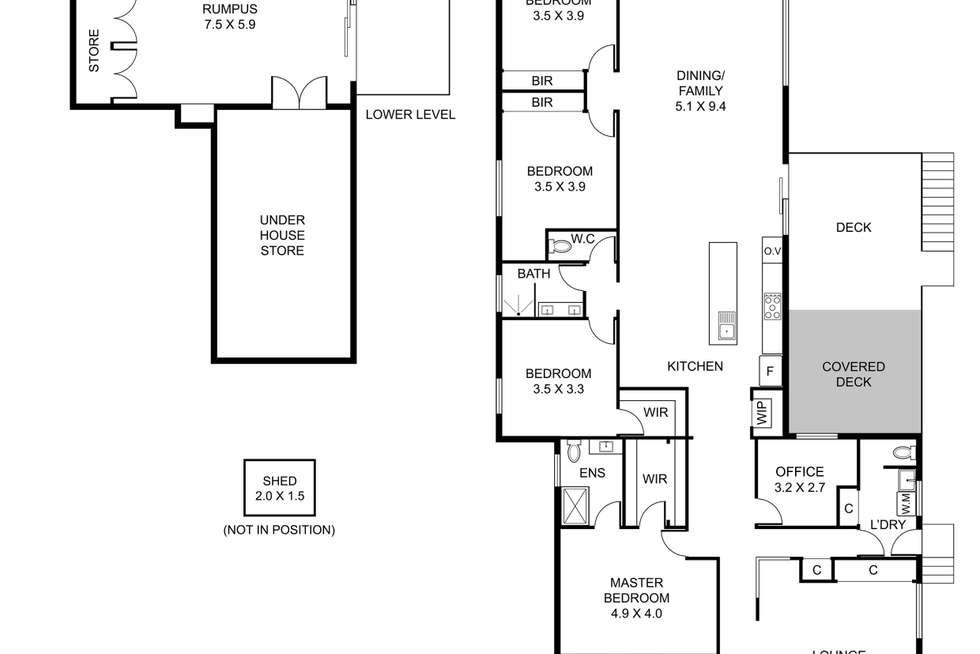 Floorplan of Homely house listing, 23 Glenfern Avenue, Upwey VIC 3158