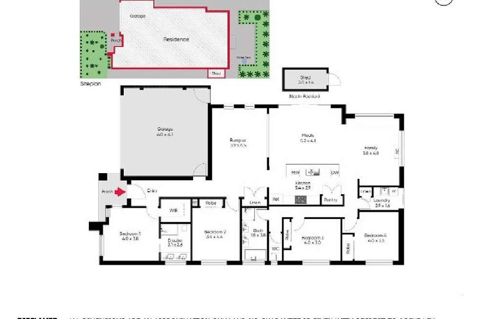 Floorplan of Homely house listing, 13 Sullivan Place, Harkness VIC 3337