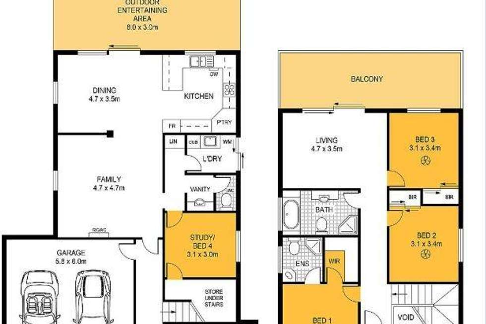Floorplan of Homely house listing, 57 Greenhills Road, Victor Harbor SA 5211