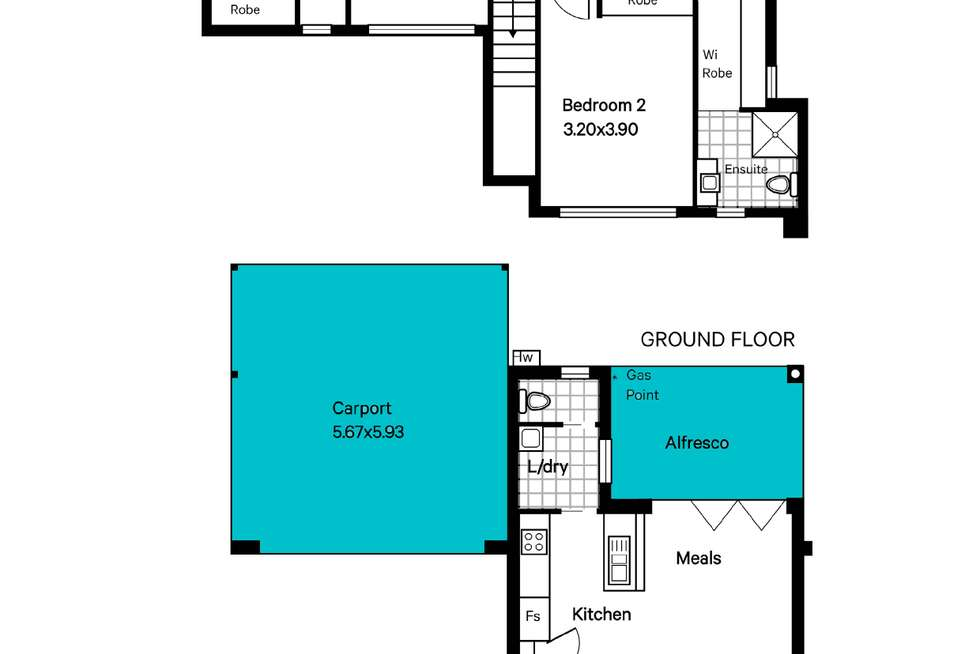 Floorplan of Homely house listing, 35b Commercial Road, Brighton SA 5048