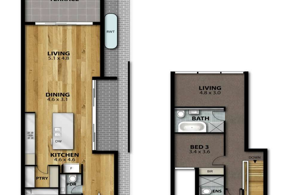 Floorplan of Homely townhouse listing, 157A Beulah Road, Norwood SA 5067