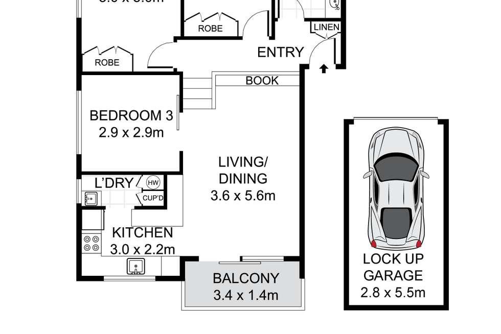 Floorplan of Homely apartment listing, 7/183-187 Hampden Road, Wareemba NSW 2046