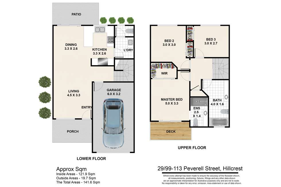 Floorplan of Homely townhouse listing, 29/99-113 Peverell Street, Hillcrest QLD 4118