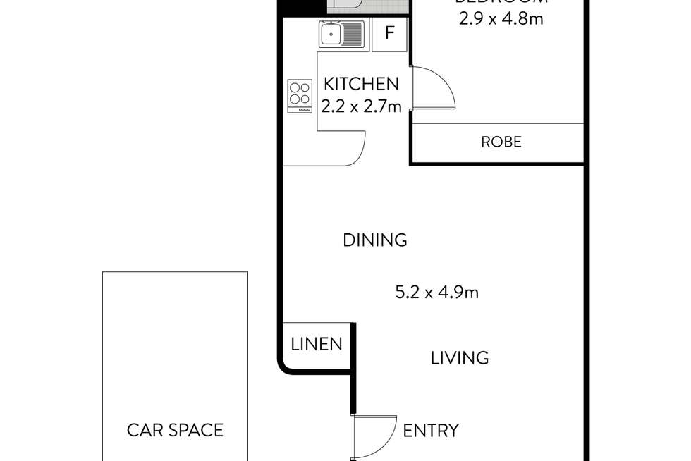 Floorplan of Homely apartment listing, 26D/18 Lucy Street, Ashfield NSW 2131