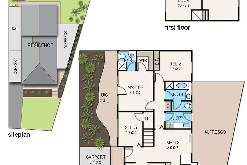 Floorplan of Homely house listing, 9 Dorchester Court, Frankston VIC 3199