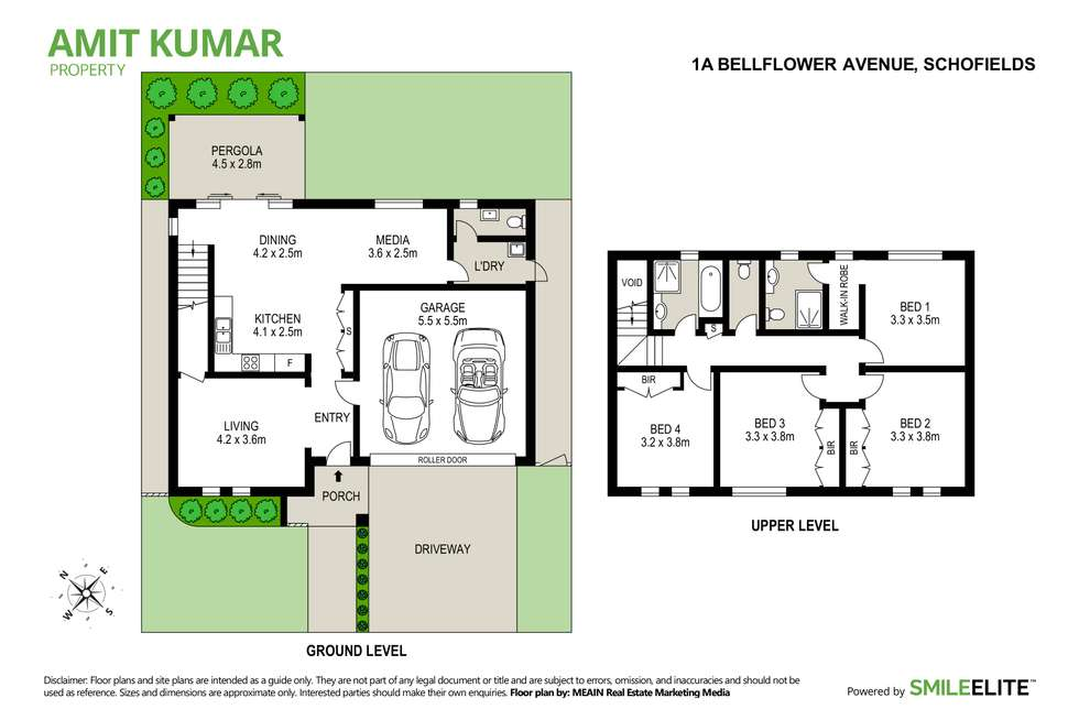 Floorplan of Homely house listing, 1a Bellflower Avenue, Schofields NSW 2762