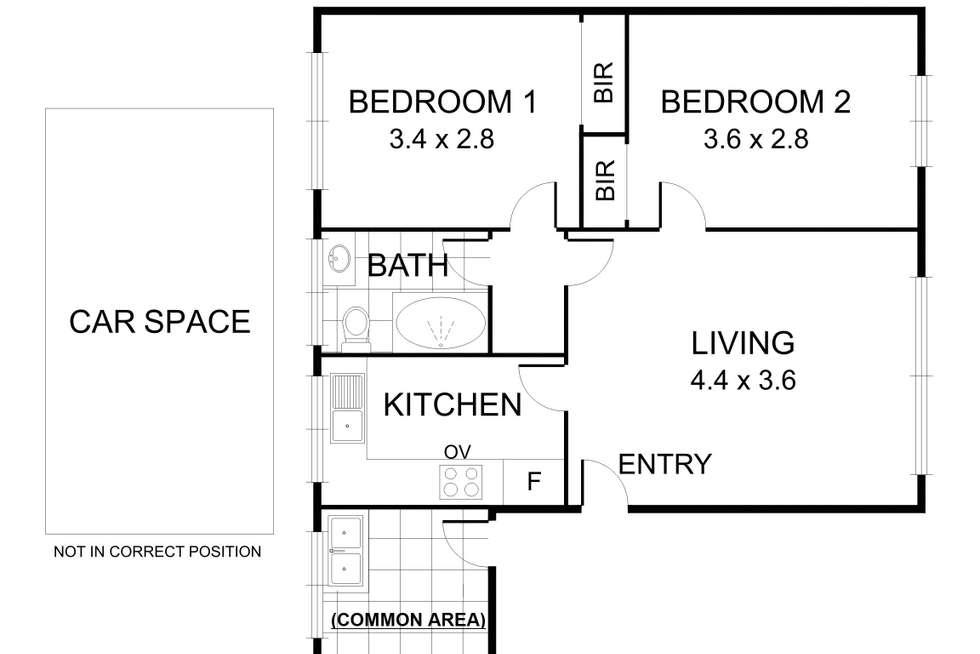 Floorplan of Homely unit listing, 13/36-38 Murray Street, Brunswick West VIC 3055