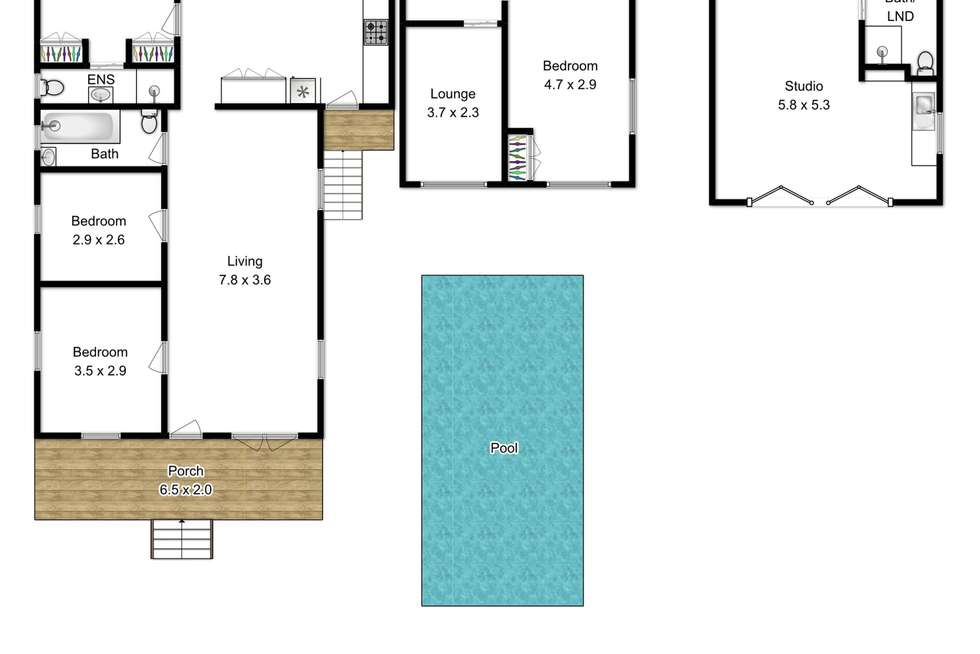 Floorplan of Homely house listing, 172 Heal Street, New Farm QLD 4005