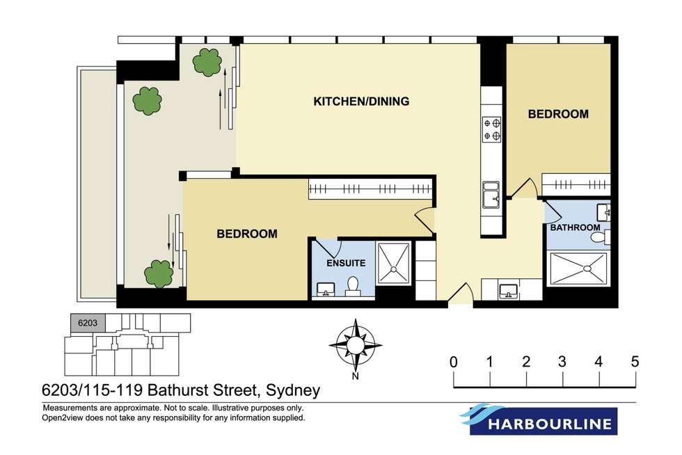 Floorplan of Homely apartment listing, 62.03/115 Bathurst Street, Sydney NSW 2000