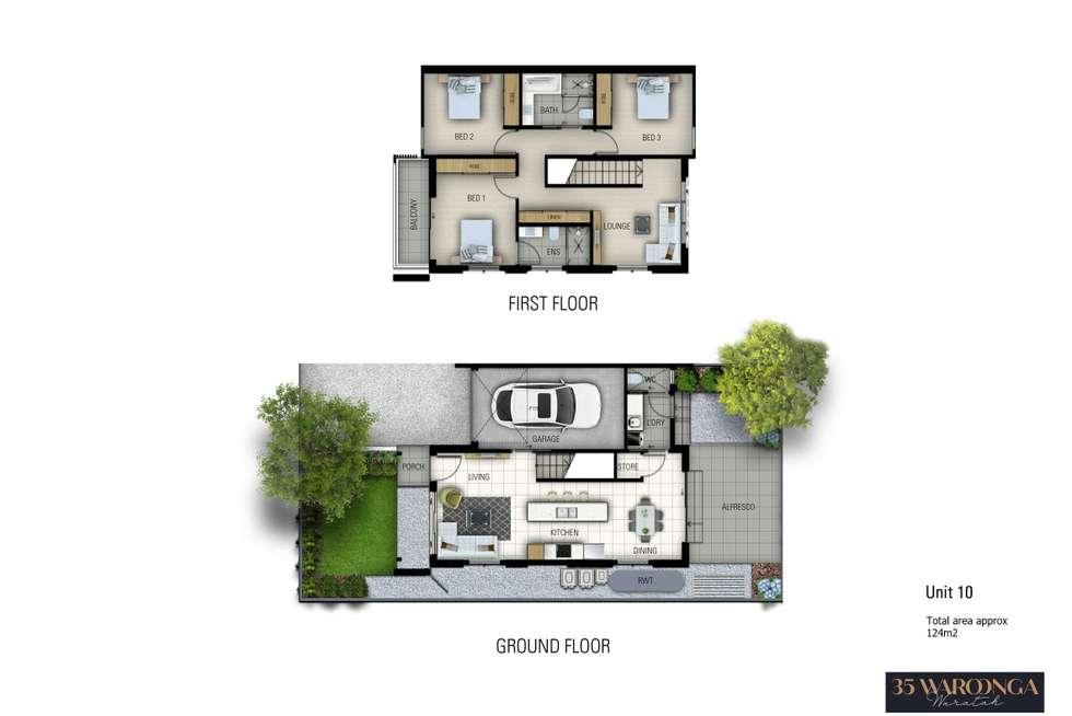 Floorplan of Homely townhouse listing, 10/35 Waroonga Road, Waratah NSW 2298