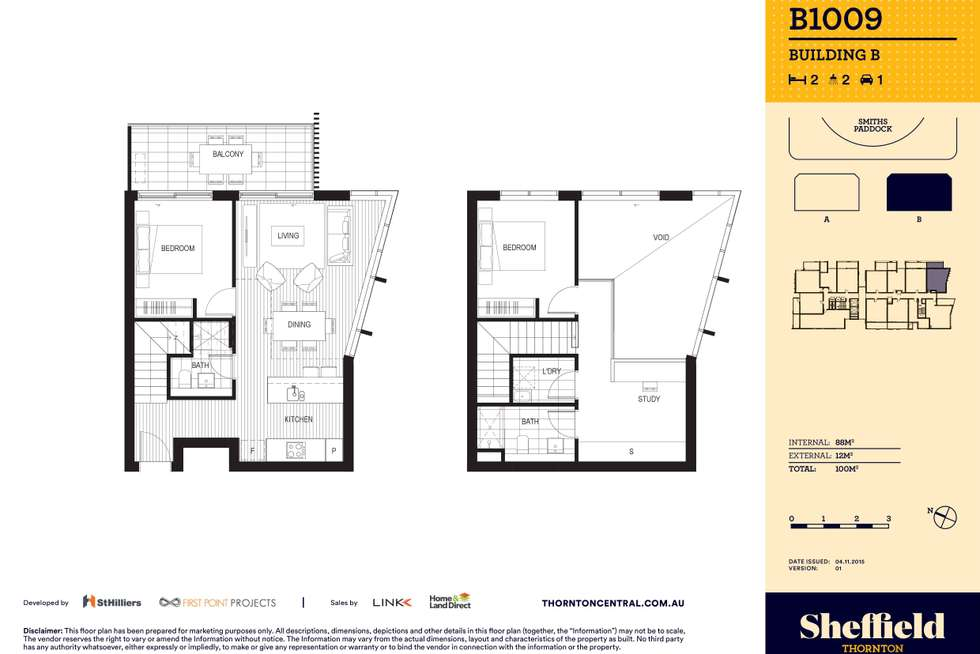 Floorplan of Homely apartment listing, 1009/10 Aviators Way, Penrith NSW 2750