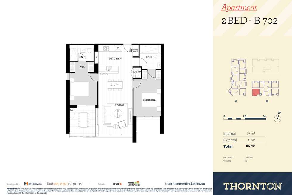 Floorplan of Homely apartment listing, 702/81B Lord Sheffield Circuit, Penrith NSW 2750