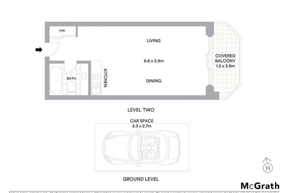 Floorplan of Homely studio listing, 57/75-79 Jersey Street North, Hornsby NSW 2077