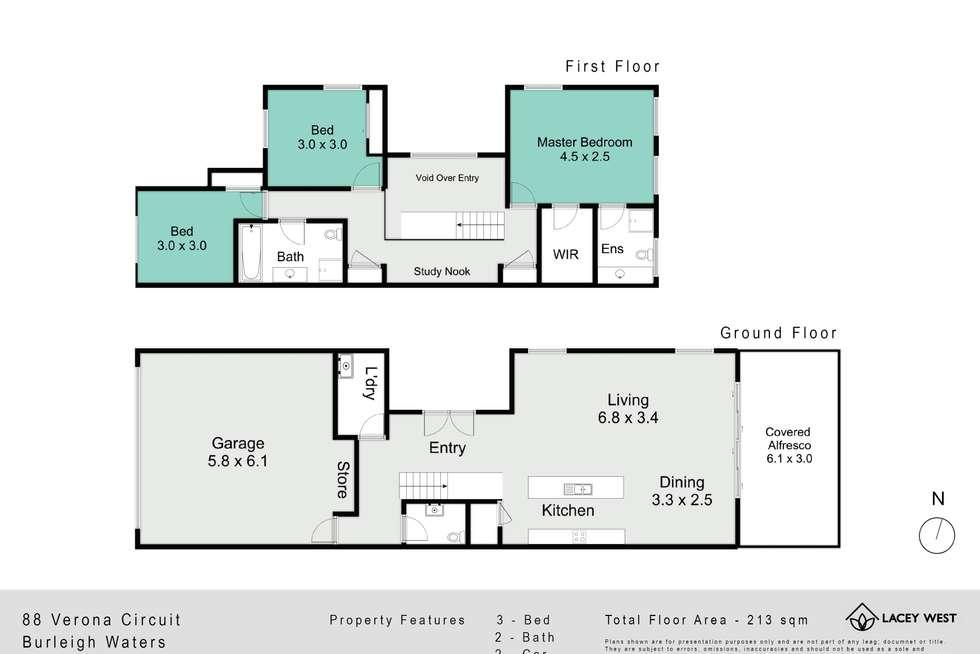 Floorplan of Homely house listing, 88 Verona Circuit, Burleigh Waters QLD 4220