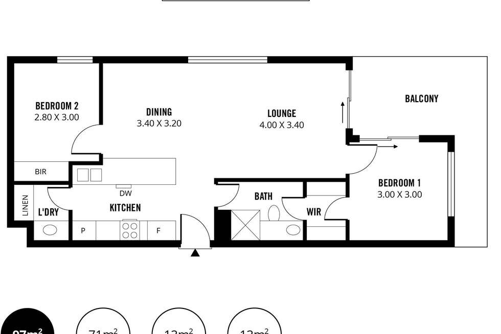 Floorplan of Homely apartment listing, 8/11 Daly Street, Adelaide SA 5000