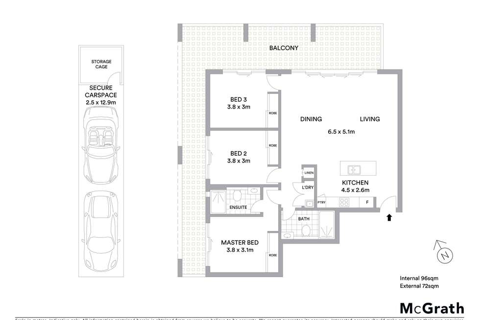 Floorplan of Homely apartment listing, 528/1454 Pacific Highway, Turramurra NSW 2074