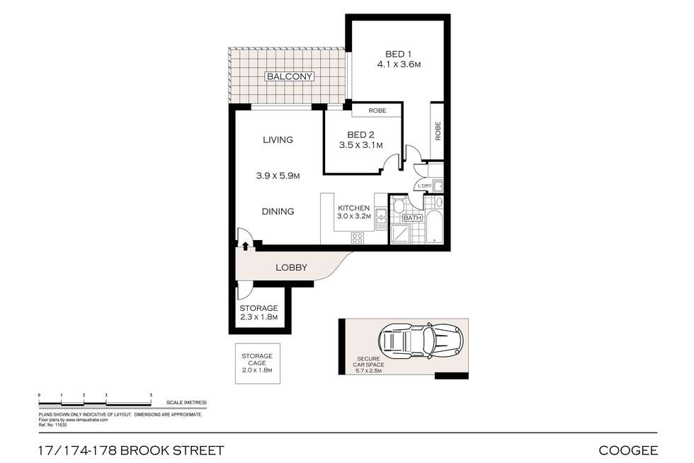 Floorplan of Homely apartment listing, 5/174-178 Brook Street, Coogee NSW 2034