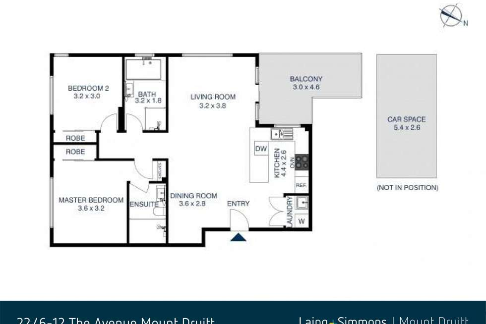 Floorplan of Homely unit listing, 22/6-12 The Avenue, Mount Druitt NSW 2770