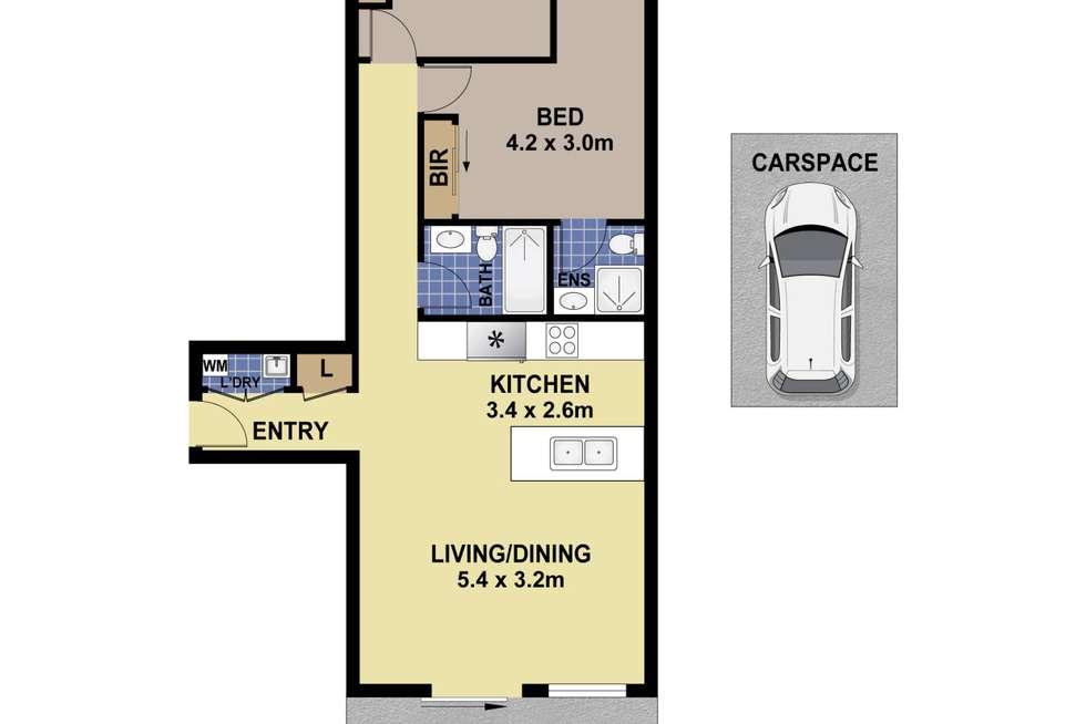 Floorplan of Homely apartment listing, A801/35 Rawson Street, Auburn NSW 2144