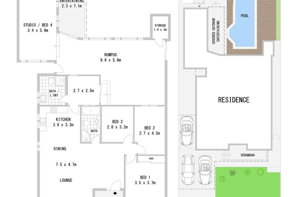 Floorplan of Homely house listing, 33 Crucie Avenue, Bass Hill NSW 2197