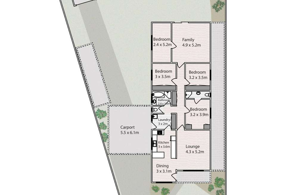 Floorplan of Homely house listing, 6 Myrtle Court, Irymple VIC 3498